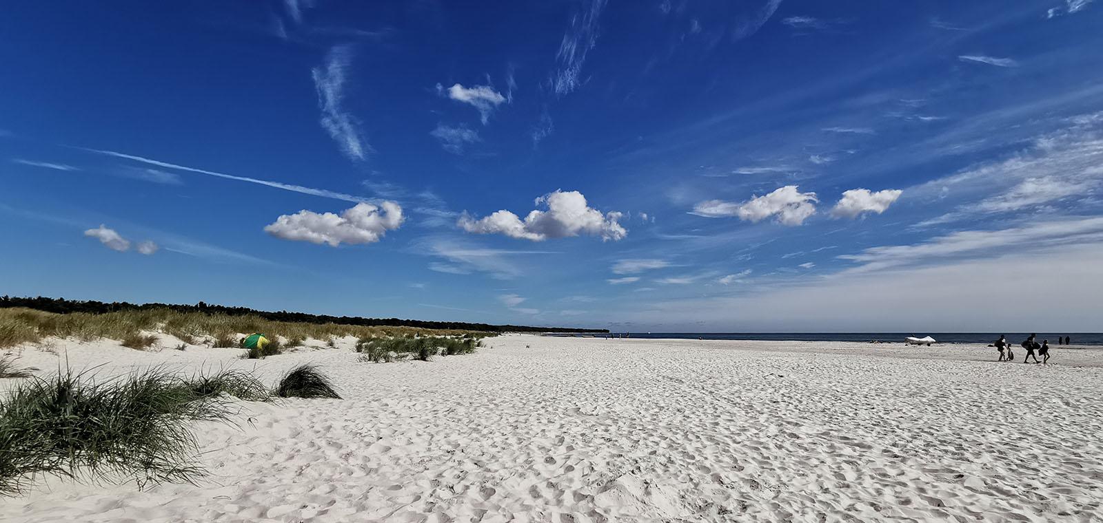 Strand von Dueodde auf Bornholm im Sommer 2020