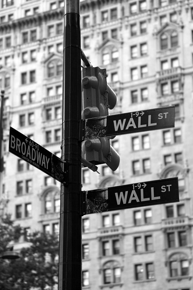Broadway Ecke Wallstreet