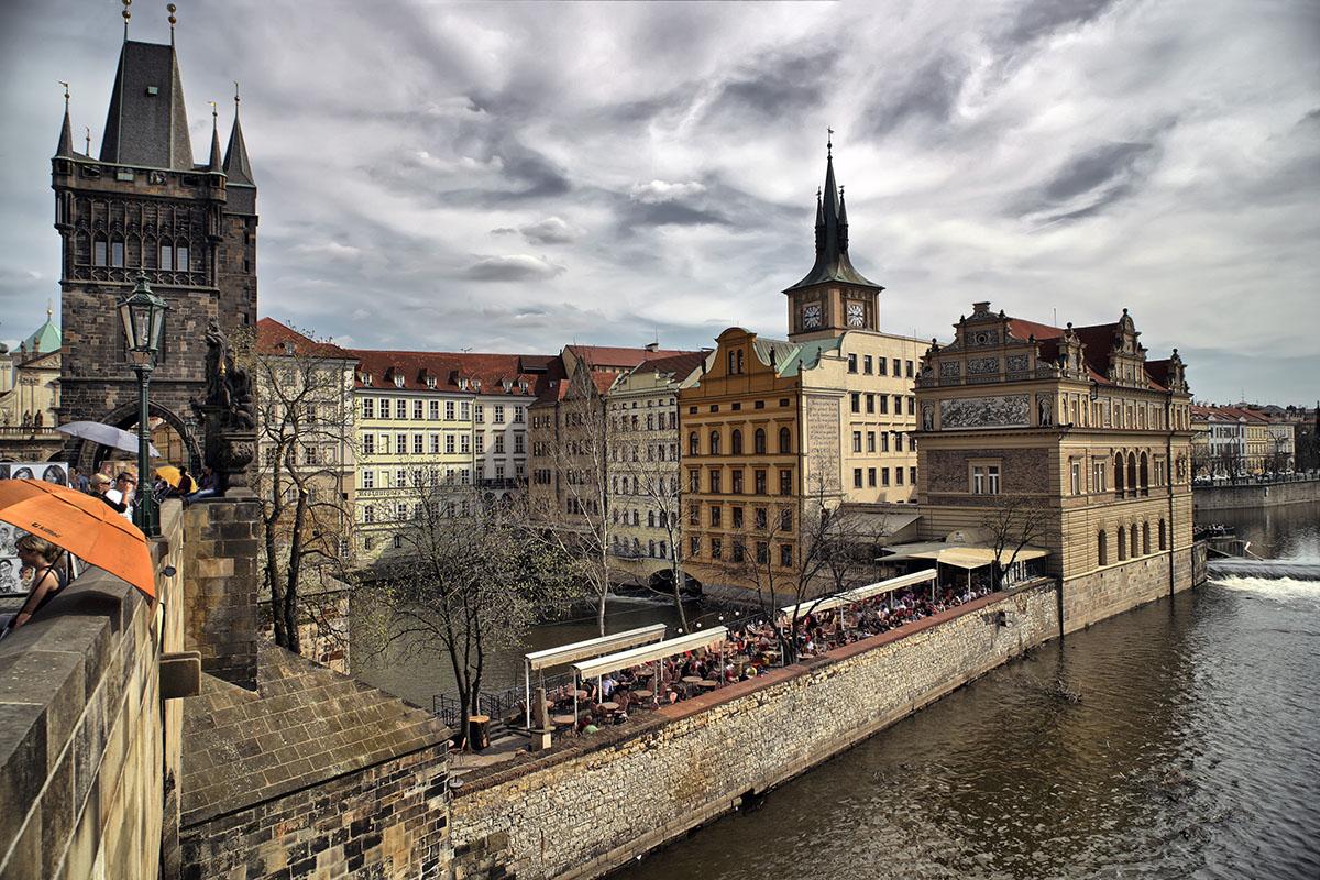 von der Karsbrücke aus - Prag