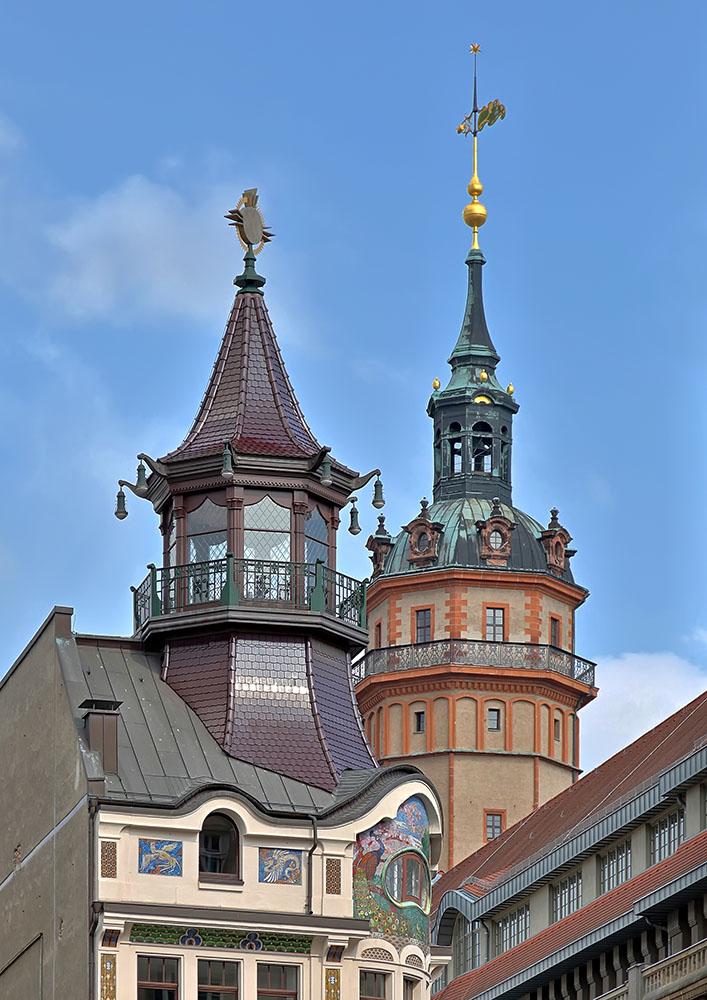 Turmspitzen Leipzig