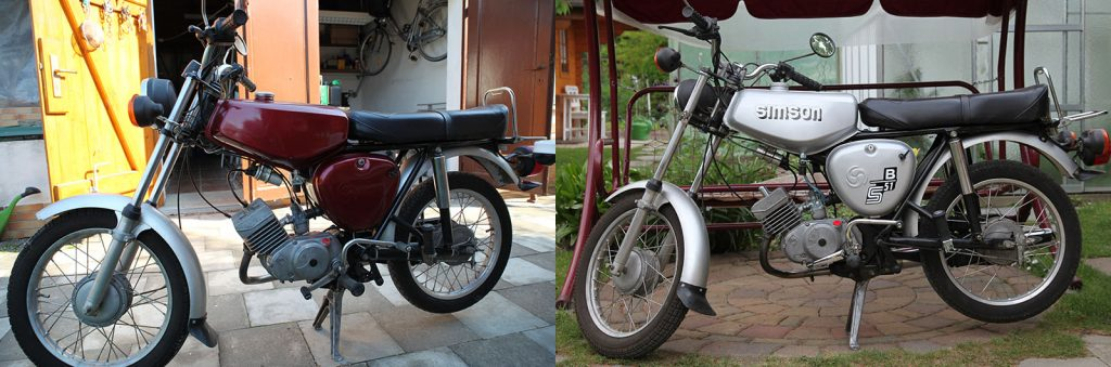 Simson S51 B1-4 ab 1995 und in 2011