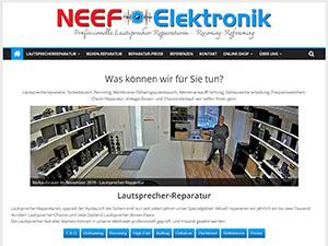 www.Neef.de - professionelle Lautsprecher-Reparaturen