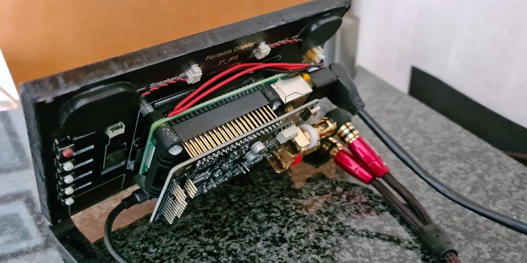 Raspberry Pi 4 mit Audiophonics DAC I-Sabre ES9038Q2M